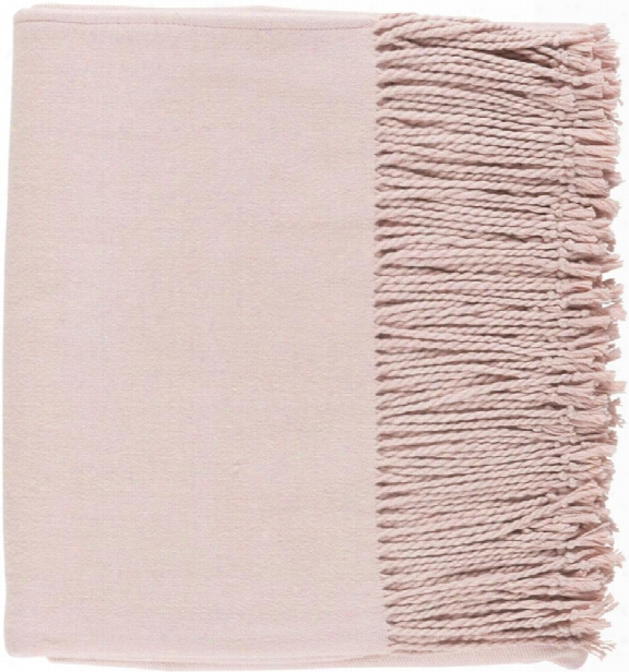 Chantel Throw Blankets In Blush Color By Surya