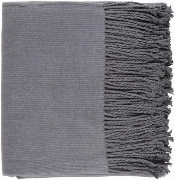 Chantel Throw Blankets In Charcoal Color By Surya