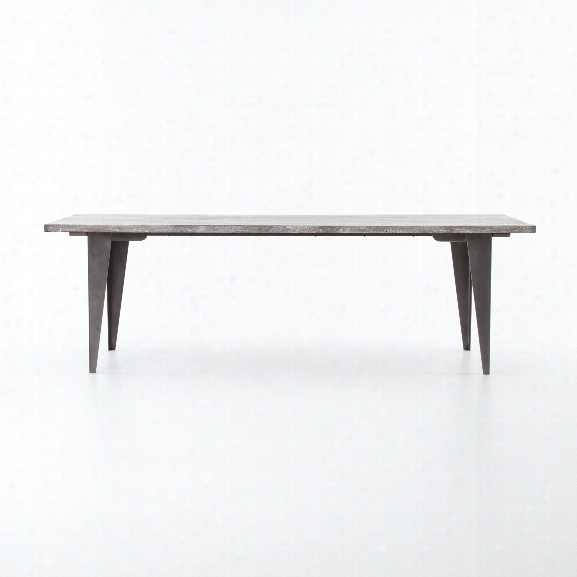 Charcoal & Iron Dining Table In Gunmetal