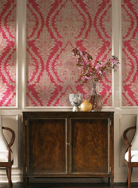 Charleston Wallpaper In Pink By Ronald Redding For York Wallcoverings