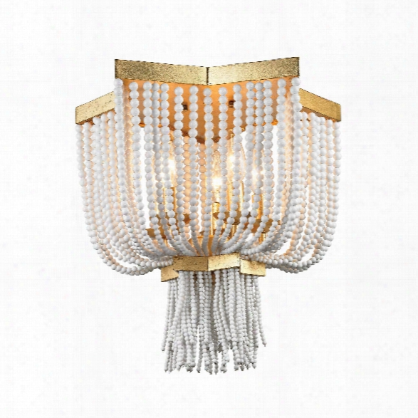 Chaumont 5 Light Flush Mount In Antique Gold Leaf Design By Bd Fine