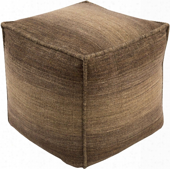Chaz Pouf In Brown Design By Surya