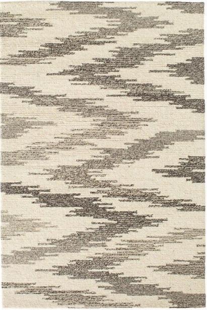 Chekat Grey Wool Micro Hooked Rug Design By Dash & Albert