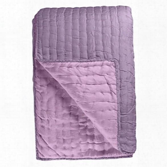 Chenevard Damson & Magenta Silk Quilt And Shams Design By Designers Guild