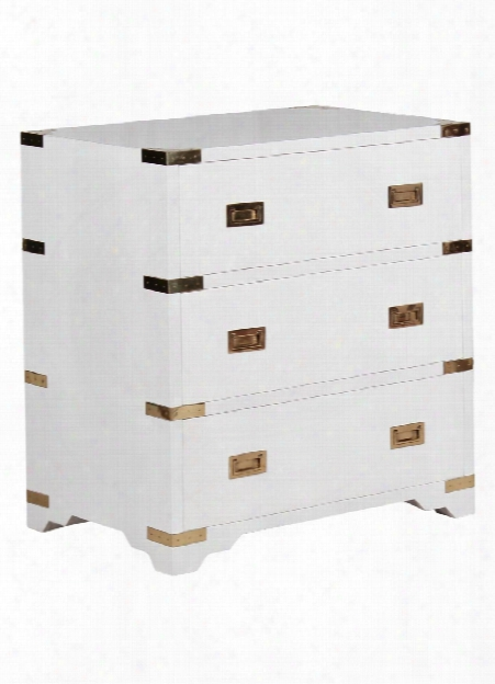 Chiba Bedside Chest In White Lacquer Design By Selamat
