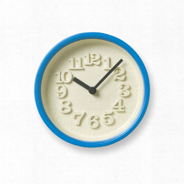 Chiisana Clock In Blue Design By Lemnos