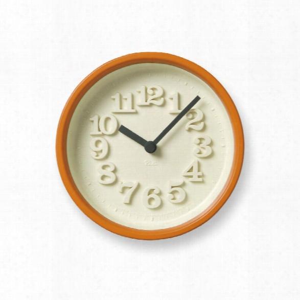 Chiisana Clock In Orange Design By Lemnos