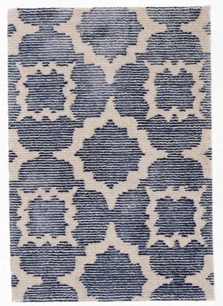 China Blue Hand Knotted Wool/viscose Rug Design By Dash & Albert
