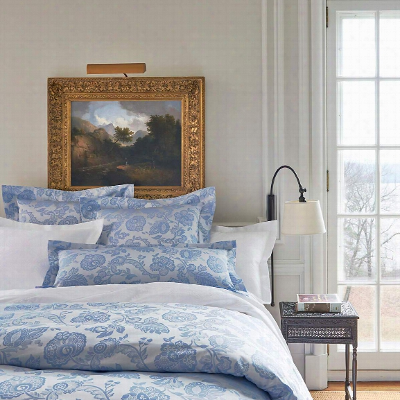 Chinois Damask Delphinium Duvet Cover Design By Luxe