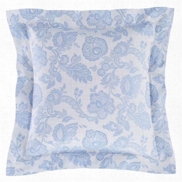 Chinois Damask Delphinium Pillowsham Design By Luxe