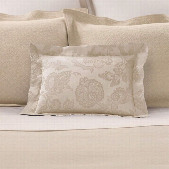 Chinois Damask Sandstone Decorative Pillow Design By Luxe