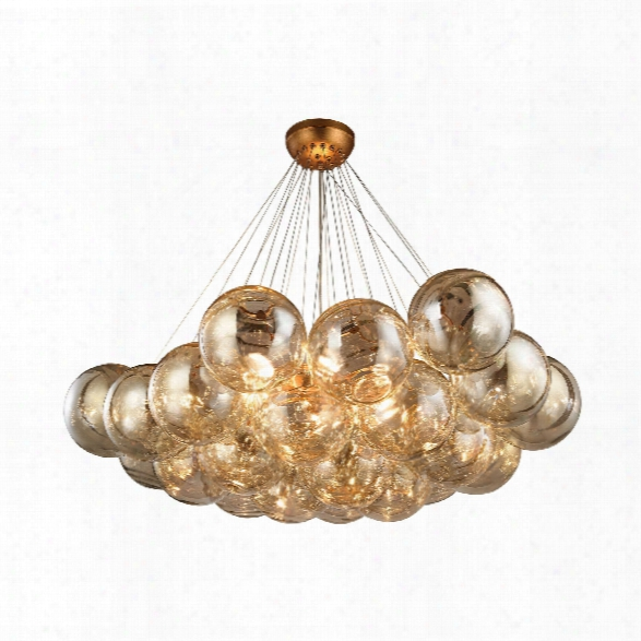 Cielo 6 Light Chandelier In Antique Gold Leaf Design By Bd Fine