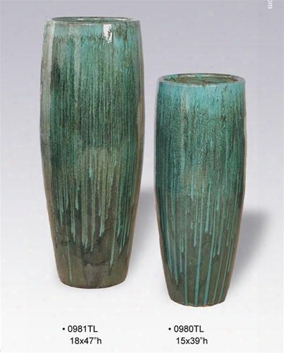 Cigar Jars In Teal Design By Emissary
