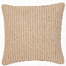 Adams Ticking Natural Indoor/Outdoor Decorative Pillow design by Fresh American