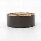 Cas Drum Coffee Table in Clay Lacquer