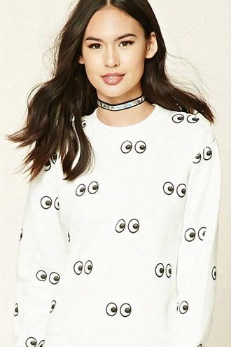 Eyes Fleece Sweatshirt