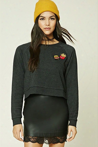 Fries Patch Graphic Sweatshirt