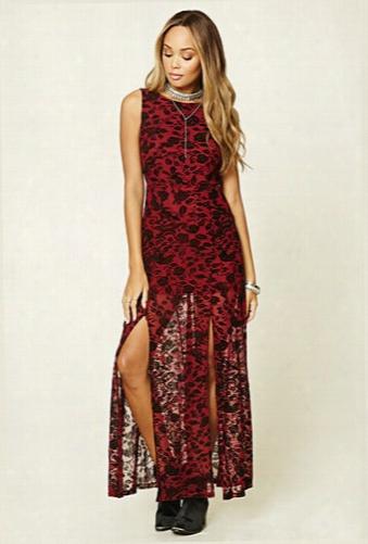 M-slit Floral Maxi Dress
