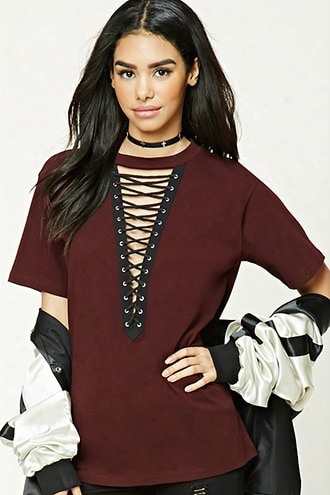 Plunging Strappy Tee