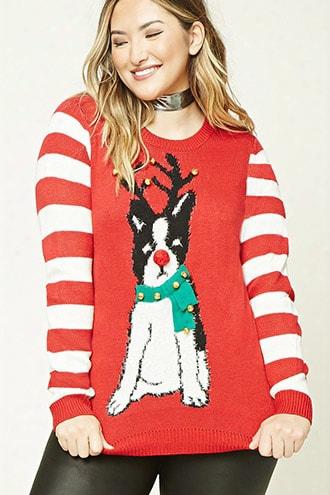 Plus Size Jingle-bell Sweater