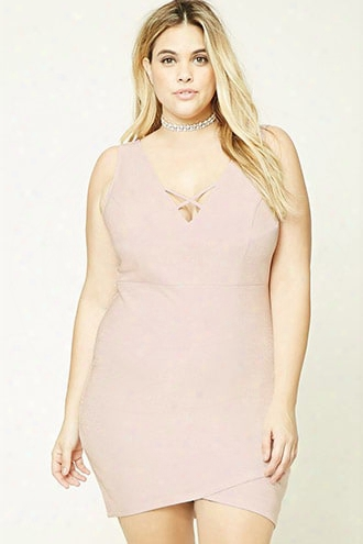 Plus Size Metallic Dress