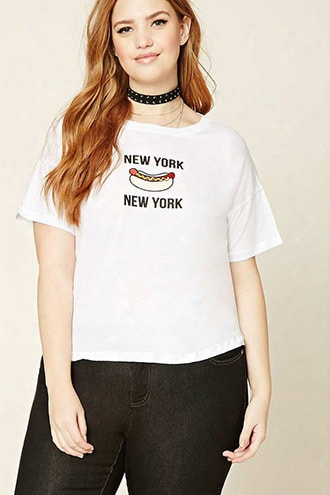 Plus Size New York Hot Dog Tee