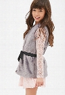 Faux Fur Ribbon Belt Vest (Kids)