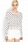 Slub Knit Polka Dot Top