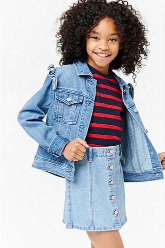 Girls Ruffled Denim Jacket (kids)