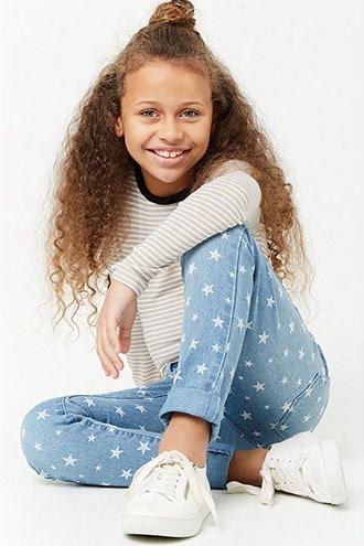 Girls Star Graphic Print Skinny Jeans (kids)