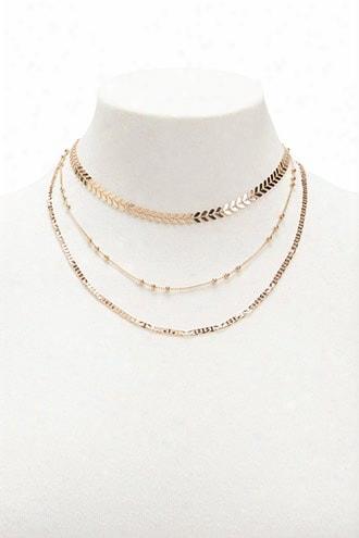 Laurel Chain Necklace Set