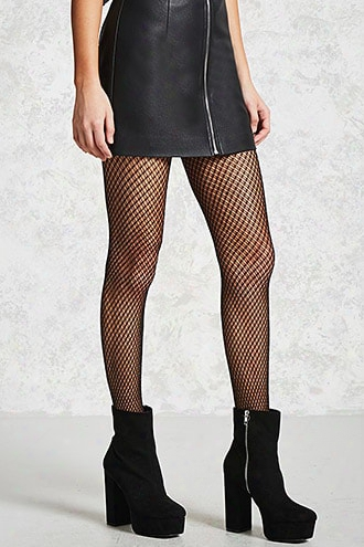 Metallic Knit Fishnet Tights