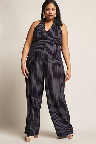 Plus Size Eta Pinstripe Jumpsuit