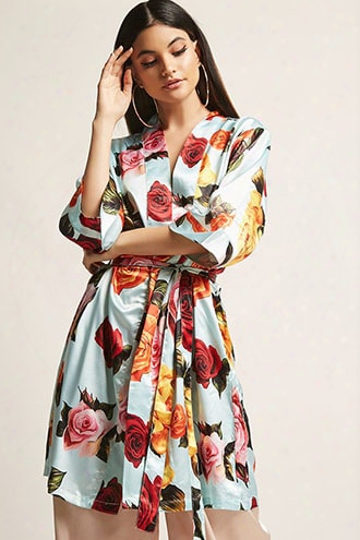 Pretty Robes Satin Floral Robe