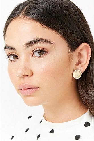 Rhinestone Halo Stud Earrings