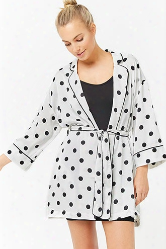 Satin Polka Dot Robe