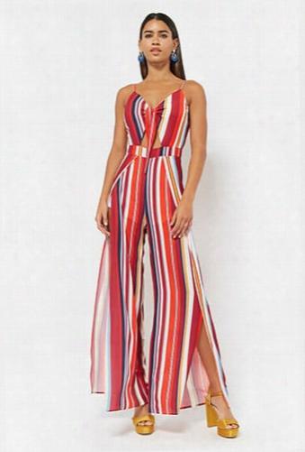 Stripe Crepe Cami Jumpsuit