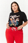 Plus Size Honda Graphic Crop Tee