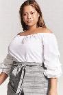 Plus Size Pickup Sleeve Top