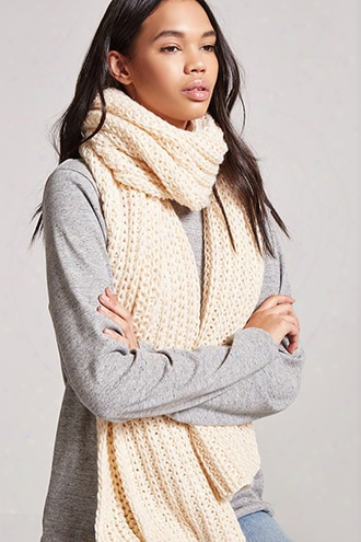 Chunky Ribbed Oblong Scarf