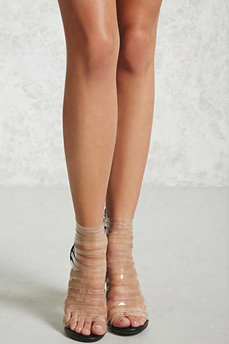 Clear Strap Caged Heels