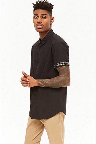 Contrast Cuff Shirt