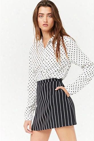 Double-stripe Mini Skirt