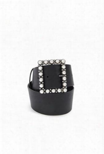 Embellished Faux Leather Waist Belt