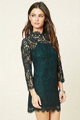 Eyelash Lace Mini Dress