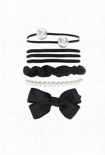 Faux Pearl Hair Tie Set