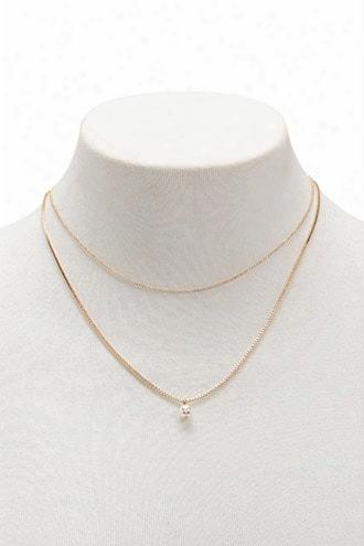 Faux Pearl Necklace Set