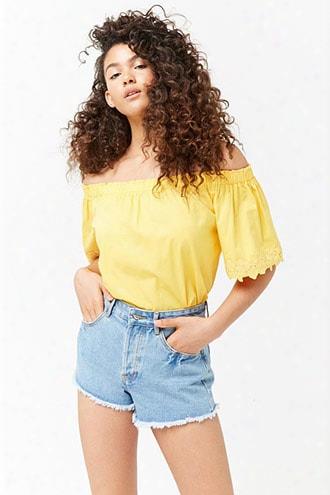 Frayed Cutouff Denim Shorts