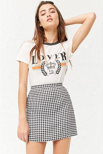 Gingham Print Mini Skirt