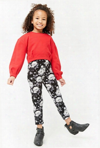 Girls Floral Print Leggings (kids)